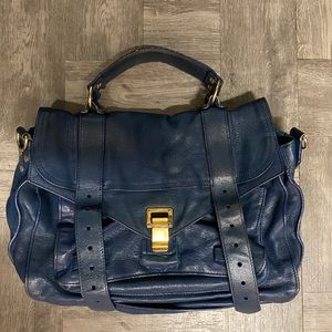 Proenza schouler blue leather PS1 small  satchel